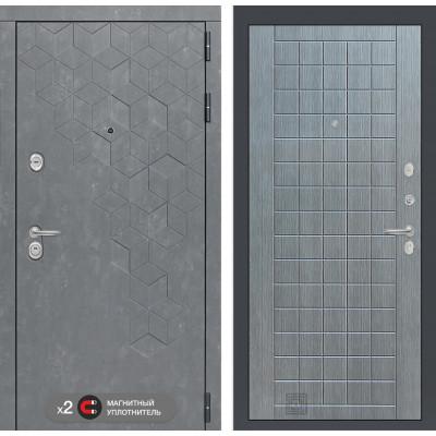 Стальная дверь Лабиринт Бетон 09 (Лен сильвер грей)