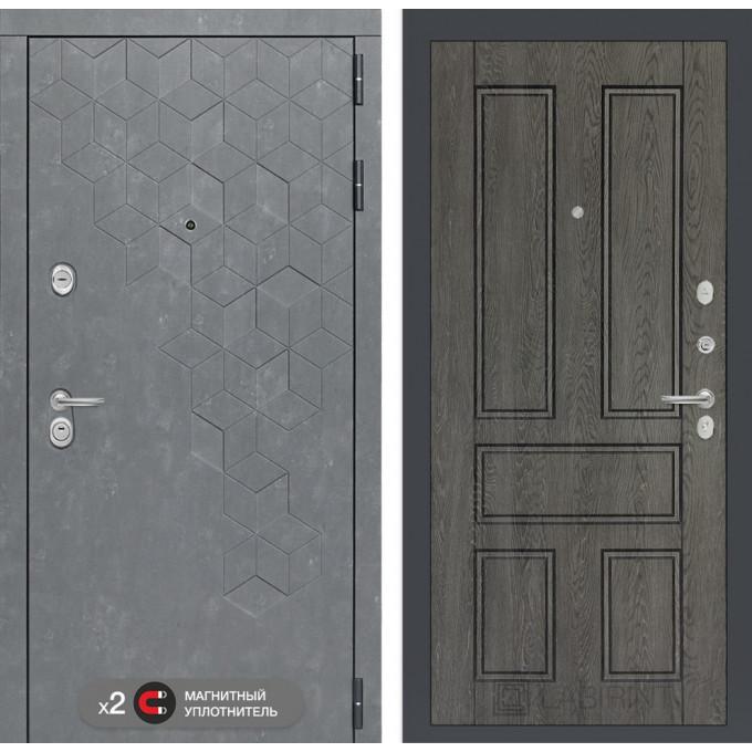 Стальная дверь Лабиринт Бетон 10 (Дуб филадельфия)