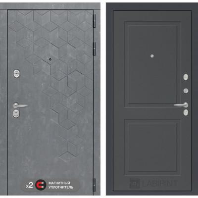 Стальная дверь Лабиринт Бетон 11 (Графит сфот)