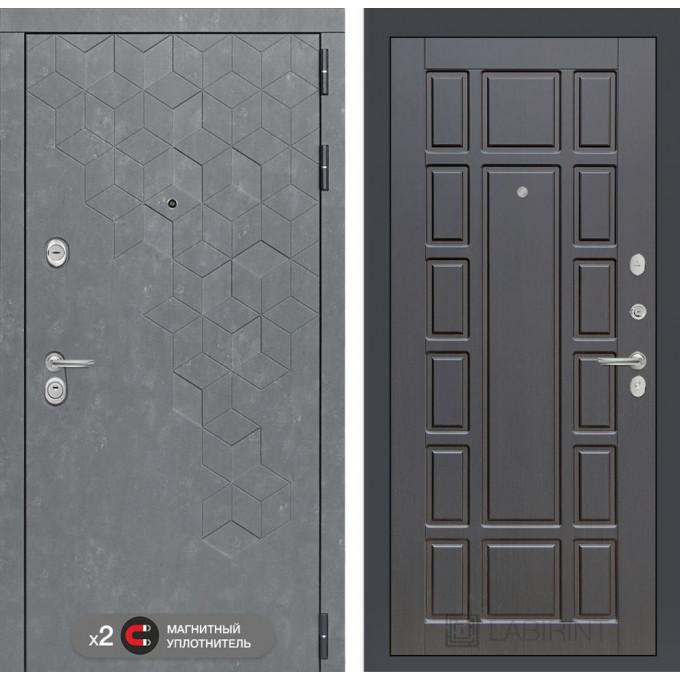 Стальная дверь Лабиринт Бетон 12 (Венге)