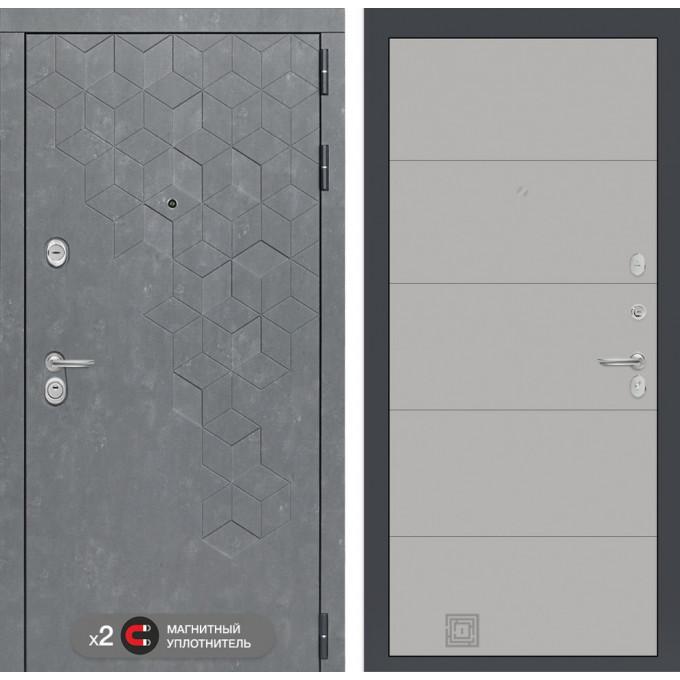Стальная дверь Лабиринт Бетон 13 (Грей софт)