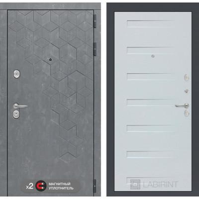 Стальная дверь Лабиринт Бетон 14 (Дуб кантри белый)