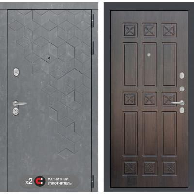 Стальная дверь Лабиринт Бетон 16 (Алмон 28)