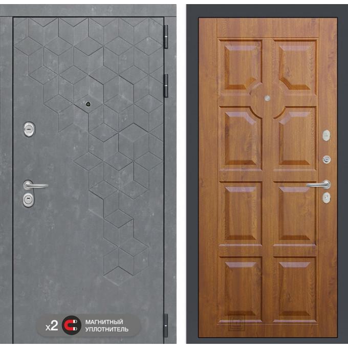 Стальная дверь Лабиринт Бетон 17 (Золотой дуб)