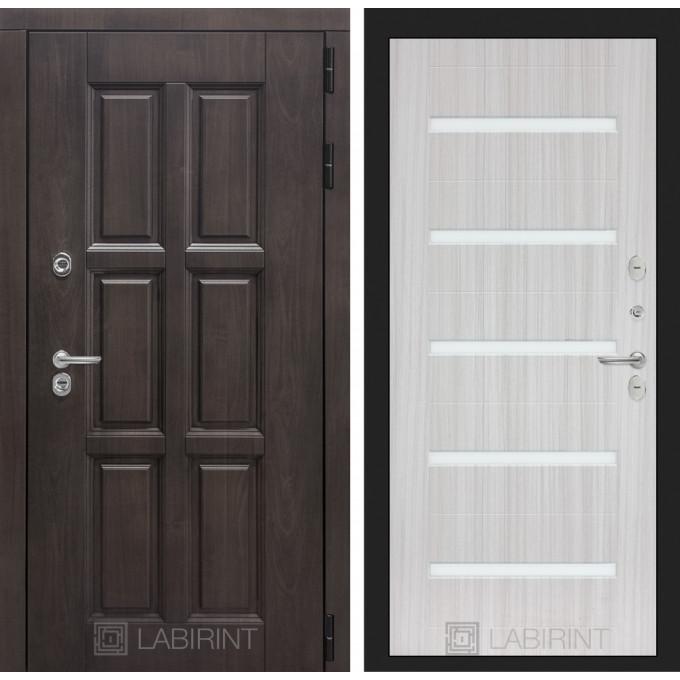 Стальная дверь Лабиринт Лондон с терморазрывом 01 (Сандал белый)