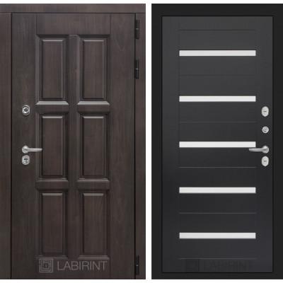 Стальная дверь Лабиринт Лондон с терморазрывом 01 (Венге)