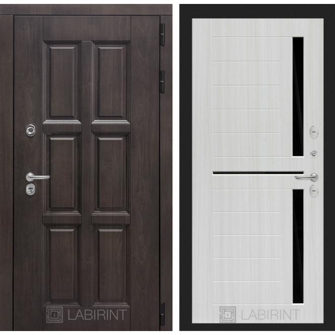 Стальная дверь Лабиринт Лондон с терморазрывом 02 (Сандал белый)