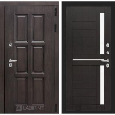 Стальная дверь Лабиринт Лондон с терморазрывом 02 (Венге)