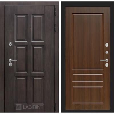 Стальная дверь Лабиринт Лондон с терморазрывом 03 (Орех бренди)