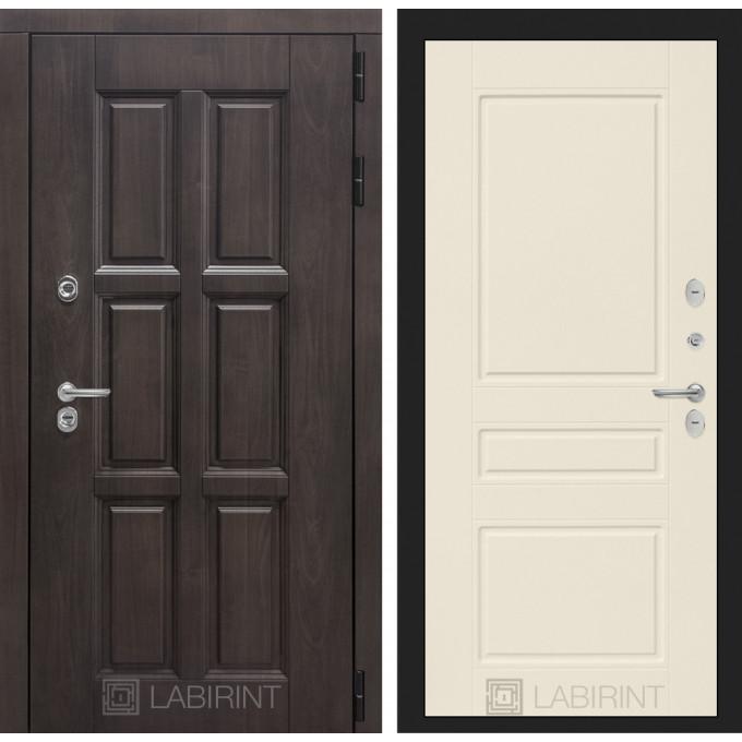Стальная дверь Лабиринт Лондон с терморазрывом 03 (Крем софт)