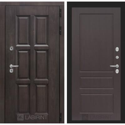 Стальная дверь Лабиринт Лондон с терморазрывом 03 (Орех премиум)