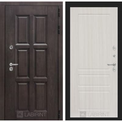 Стальная дверь Лабиринт Лондон с терморазрывом 03 (Сандал белый)