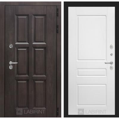 Стальная дверь Лабиринт Лондон с терморазрывом 03 (Белый софт)