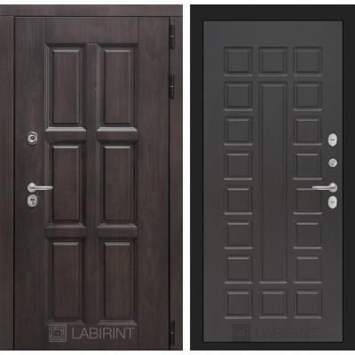 Стальная дверь Лабиринт Лондон с терморазрывом 04 (Венге)