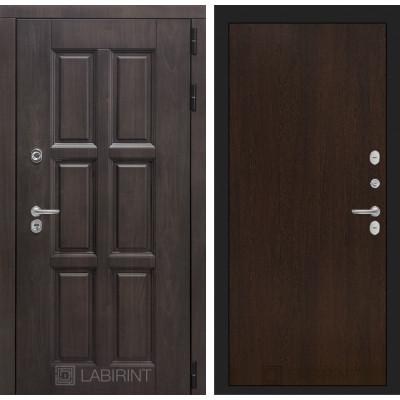 Стальная дверь Лабиринт Лондон с терморазрывом 05 (Венге)