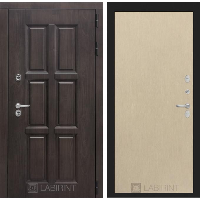 Стальная дверь Лабиринт Лондон с терморазрывом 05 (Беленый дуб)