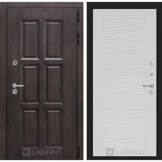 Стальная дверь Лабиринт Лондон с терморазрывом 06 (Белое дерево)