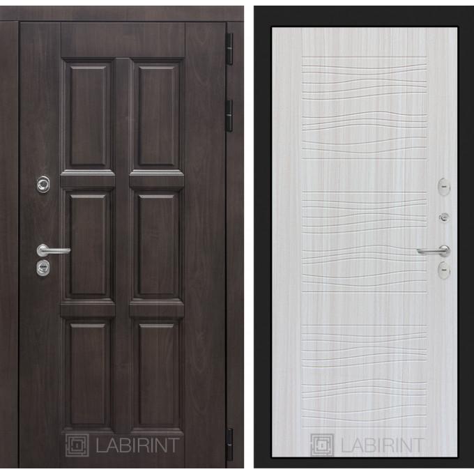 Стальная дверь Лабиринт Лондон с терморазрывом 06 (Сандал белый)