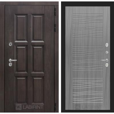Стальная дверь Лабиринт Лондон с терморазрывом 06 (Сандал серый)