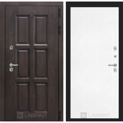 Стальная дверь Лабиринт Лондон с терморазрывом 07 (Белое дерево)