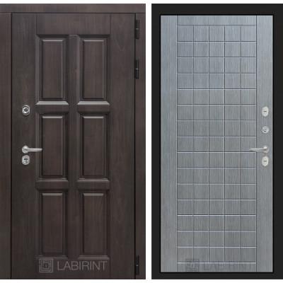 Стальная дверь Лабиринт Лондон с терморазрывом 09 (Лен сильвер грей)