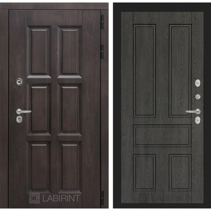 Стальная дверь Лабиринт Лондон с терморазрывом 10 (Дуб филадельфия графит)