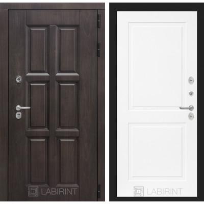Стальная дверь Лабиринт Лондон с терморазрывом 11 (Белый софт)