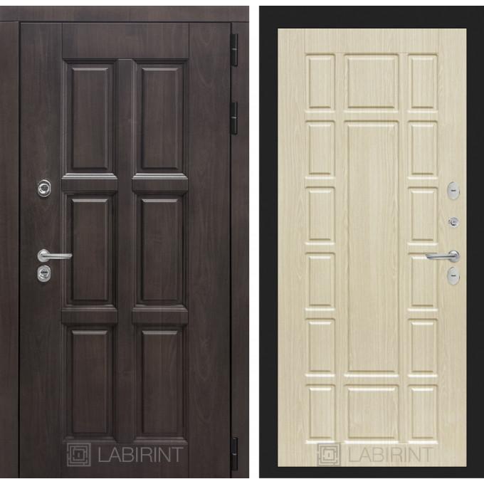 Стальная дверь Лабиринт Лондон с терморазрывом 12 (Беленый дуб)