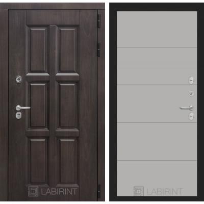 Стальная дверь Лабиринт Лондон с терморазрывом 13 (Грей софт)
