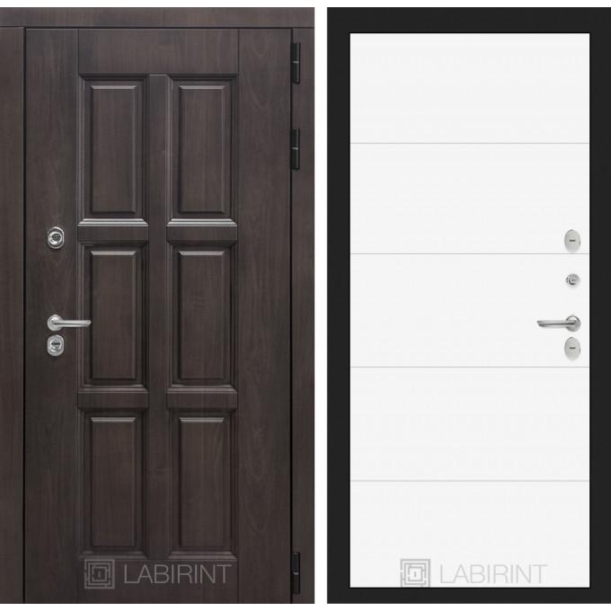 Стальная дверь Лабиринт Лондон с терморазрывом 13 (Белый софт)