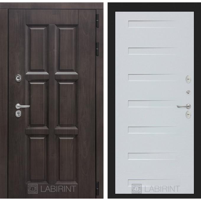 Стальная дверь Лабиринт Лондон с терморазрывом 14 Дуб кантри белый)