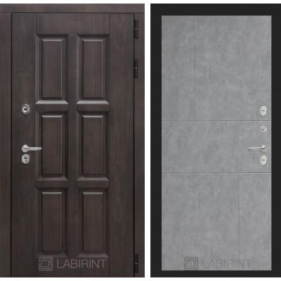 Стальная дверь Лабиринт Лондон с терморазрывом 21 (Бетон светлый)