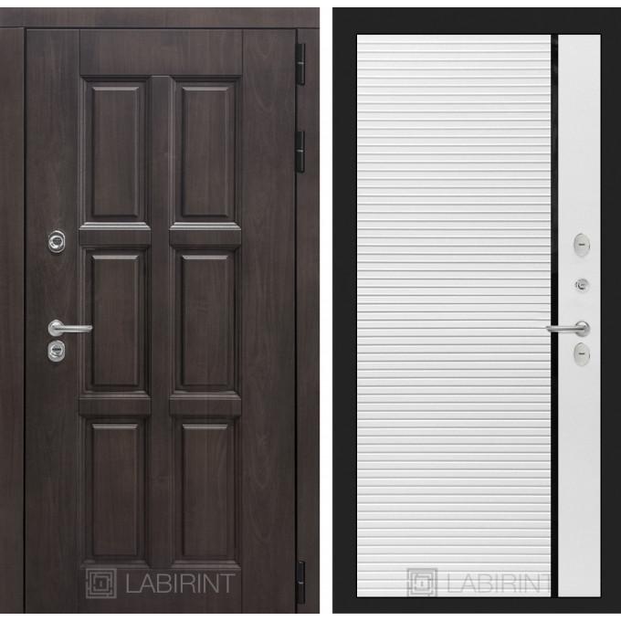 Стальная дверь Лабиринт Лондон с терморазрывом 22 (Белый софт)