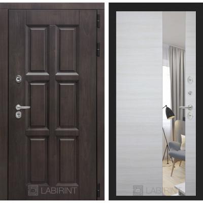 Стальная дверь Лабиринт Лондон с терморазрывом с зеркалом (Акация)