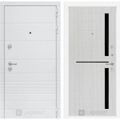 Стальная дверь Лабиринт TRENDO 02 (Сандал белый)