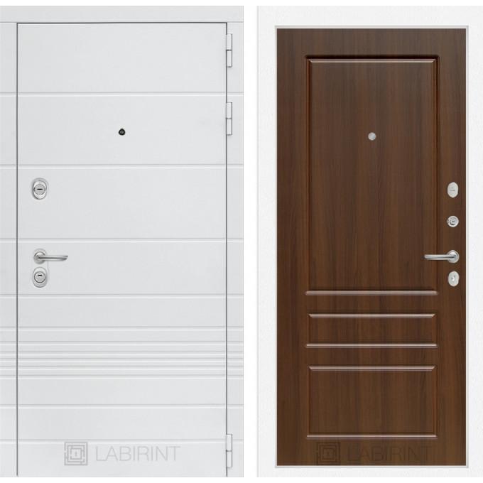 Стальная дверь Лабиринт TRENDO 03 (Орех бренди)