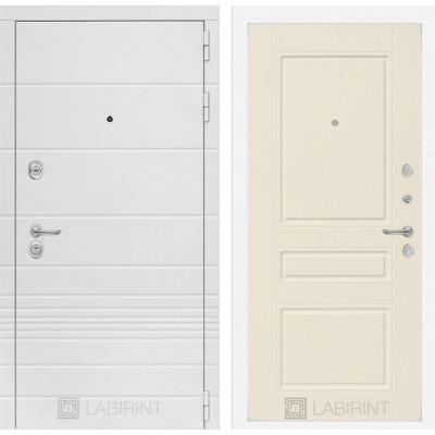 Стальная дверь Лабиринт TRENDO 03 (Крем софт)