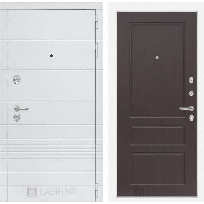 Стальная дверь Лабиринт TRENDO 03 (Орех премиум)