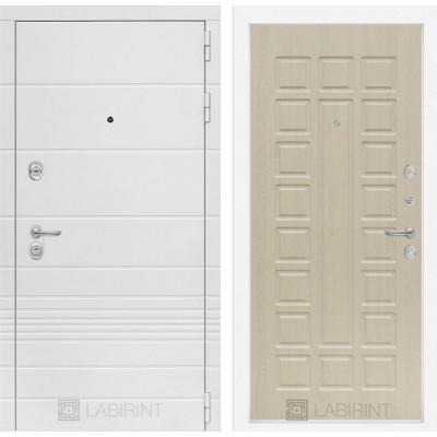 Стальная дверь Лабиринт TRENDO 04 (Беленый дуб)