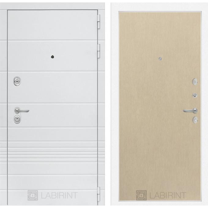 Стальная дверь Лабиринт TRENDO 05 (Беленый дуб)