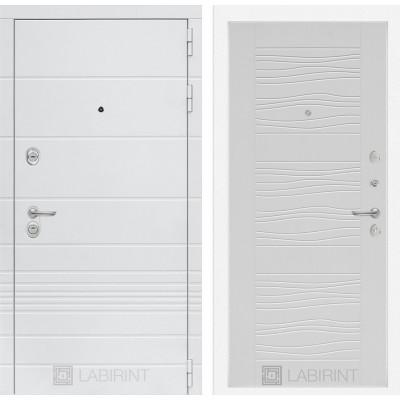 Стальная дверь Лабиринт TRENDO 06 (Белое дерево)