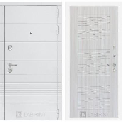 Стальная дверь Лабиринт TRENDO 06 (Сандал белый)
