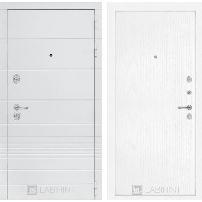 Стальная дверь Лабиринт TRENDO 07 (Белое дерево)