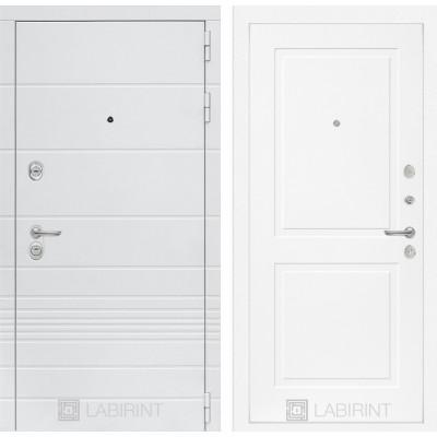 Стальная дверь Лабиринт TRENDO 11 (Белый софт)