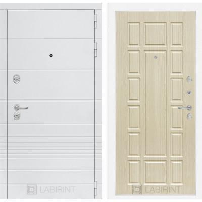 Стальная дверь Лабиринт TRENDO 12 (Беленый дуб)