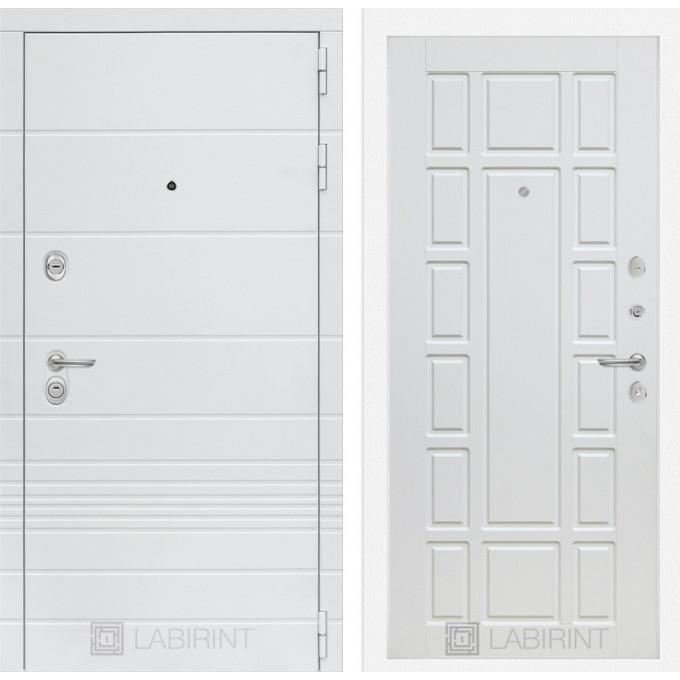 Стальная дверь Лабиринт TRENDO 12 (Белое дерево)
