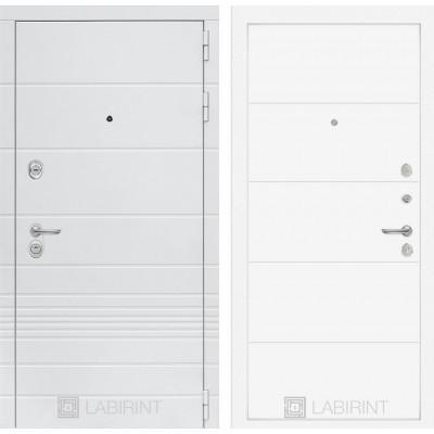 Стальная дверь Лабиринт TRENDO 13 (Белый софт)