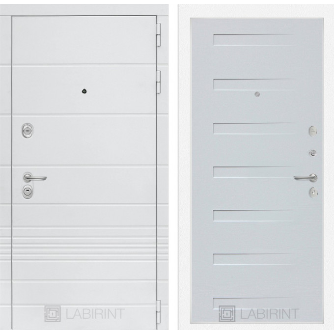 Стальная дверь Лабиринт TRENDO 14 (Дуб кантри белый)