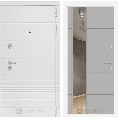 Стальная дверь Лабиринт TRENDO 19 с зеркалом (Грей софт)