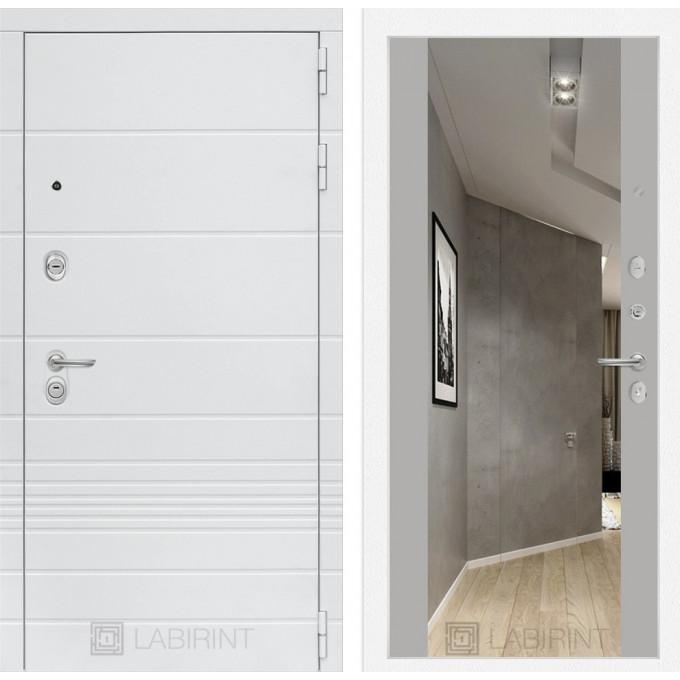 Стальная дверь Лабиринт TRENDO Максимум с зеркалом (Грей софт)
